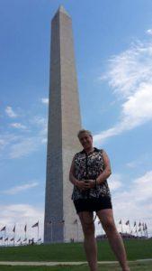 Washington monumentet, i baggrunden